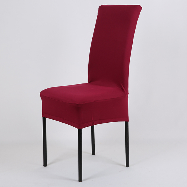Dining Chair Covers Aliexpress Ball Chairs For Classrooms Solid Color Cheap Stretch Spandex Cover Machine Washable Restaurant Weddings Banquet Folding Hotel Decoration Decor