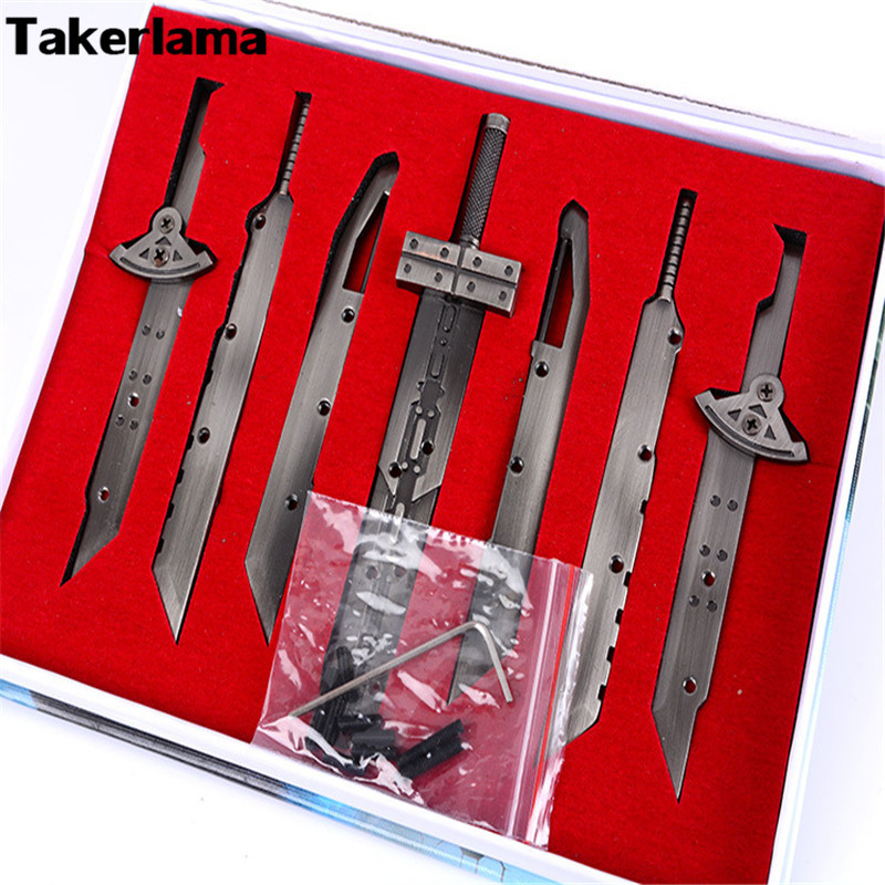 Takerlama Final Fantasy 7 Cloud Strife Swords Buster FF7 Sword Collection Set Cosplay Accessories Props Weapons Christmas Gift