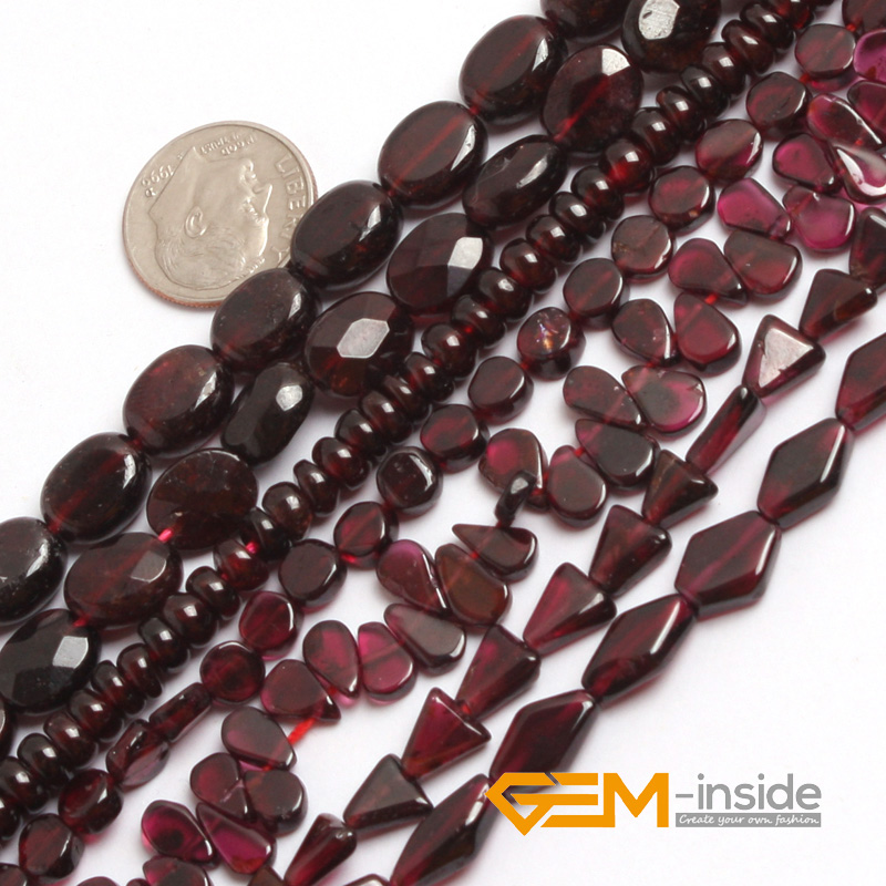 цены Freeform Shape Garnet Beads Natural Stone Beads DIY Loose Beads For Jewelry Making Beads Strand 15