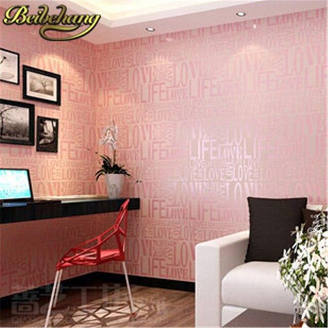 beibehang papel parede Korean Modern Love Wallpaper Home Decor ...