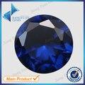 Atacado 500 pcs 112 # Corte Redondo Azul Pedra 1.0 ~ 3.0mm Azul Safira Pedra Espinélio Sintético Para Jóias