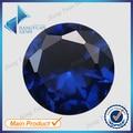 Comercio al por mayor 500 unids 112 # Corte Redondo Piedra Azul 1.0 ~ 3.0mm Espinela Sintética Azul Zafiro Piedra Para La Joyería