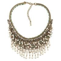 NEW Z Design HOT SALE Trendy Fashion Simulated Pearl Bib Collar Pendant Necklace Pendant Nickel Free