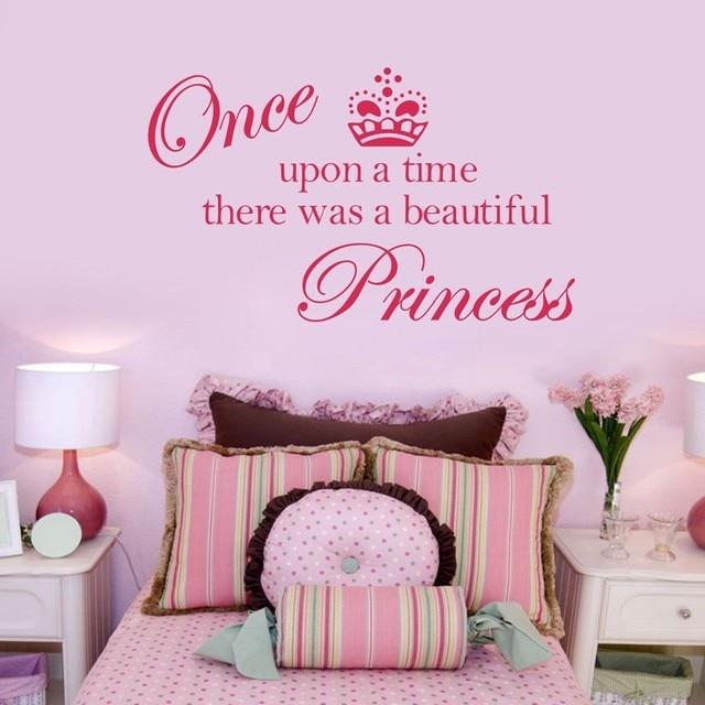 hot verkoop kroon prinses vinyl muurstickers met engels quotes stickers prinses slaapkamer decoratie voor