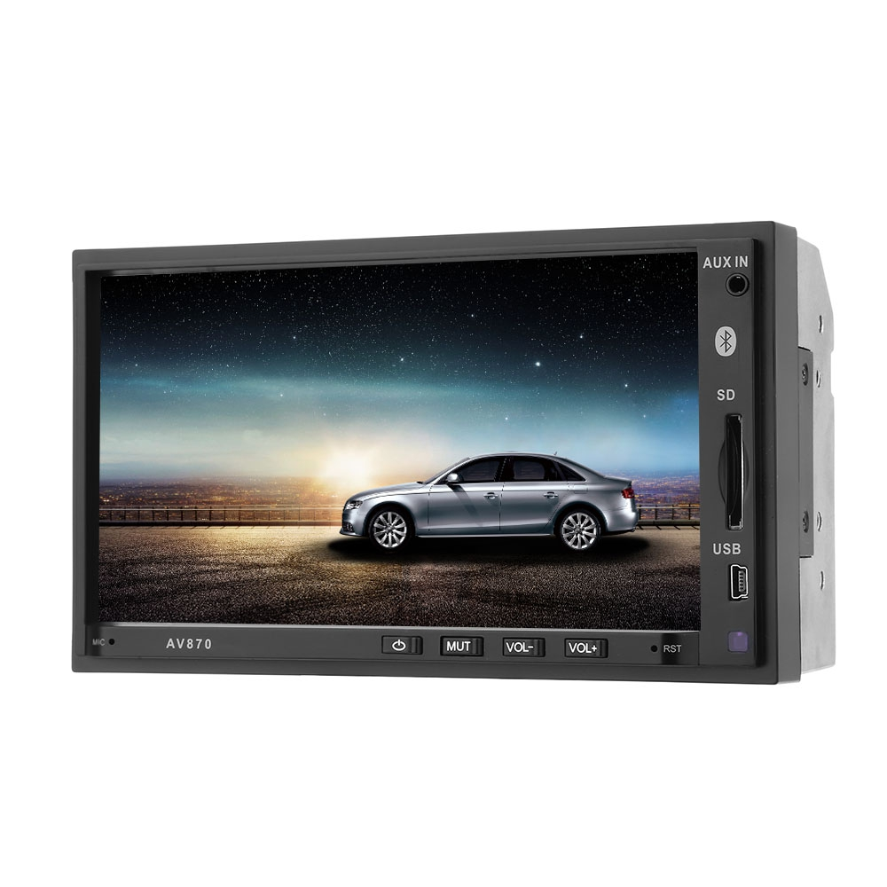 все цены на AV870B 2 Double Din Car Multimedia Player MP3 Car Video Player RDS FM Radio Bluetooth HD 1080P 7 Inch 12V AUX USB SD Rear View онлайн