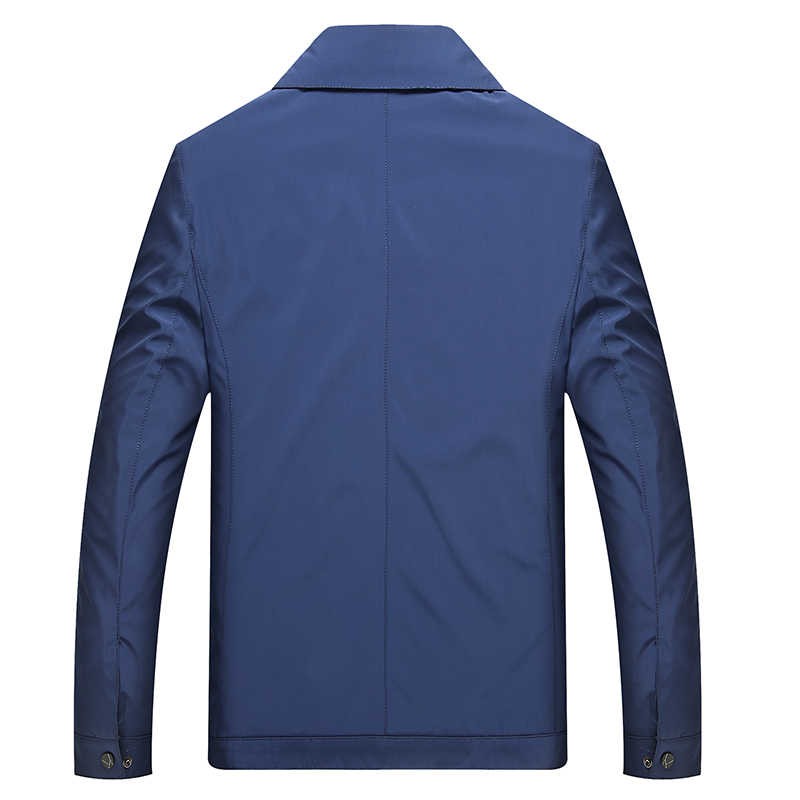 2019 Kaliteli Bombacı Katı Rahat yaka slim Fit Ceket Erkekler Bahar Sonbahar Giyim Mandarin Spor Erkek Ceketler Erkek Mont