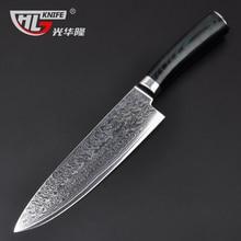 """GHL 8 """"zoll Damaskus küchenmesser Damaskus messer hohe qualität VG10 Japanischen stahl kochmesser Micarta griff kostenloser versand"""