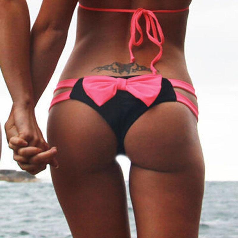2018 Bikini Bottom Brazilian T-back Semi V Thong S...