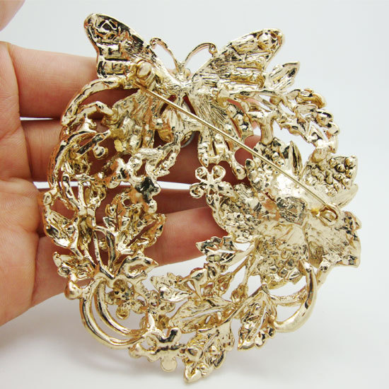 Vintage Fashion Vintage Style Butterfly Flower Brooch Pin Pendant Pink  Austrian Crystal Free Shipping -in Brooches from Jewelry   Accessories on  ... c2a4c19913ea