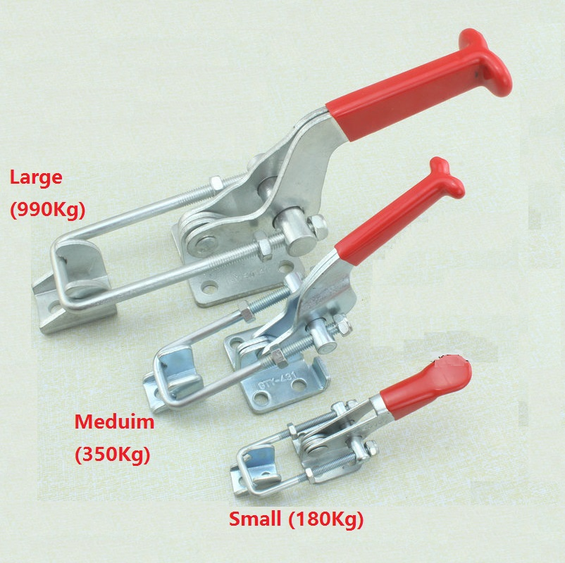 2Pcs/Lot Large(990Kg) Plated Iron Adjustable Hasp Fastener, Toggle Latch, Hasp Catch - Trailer Industrial