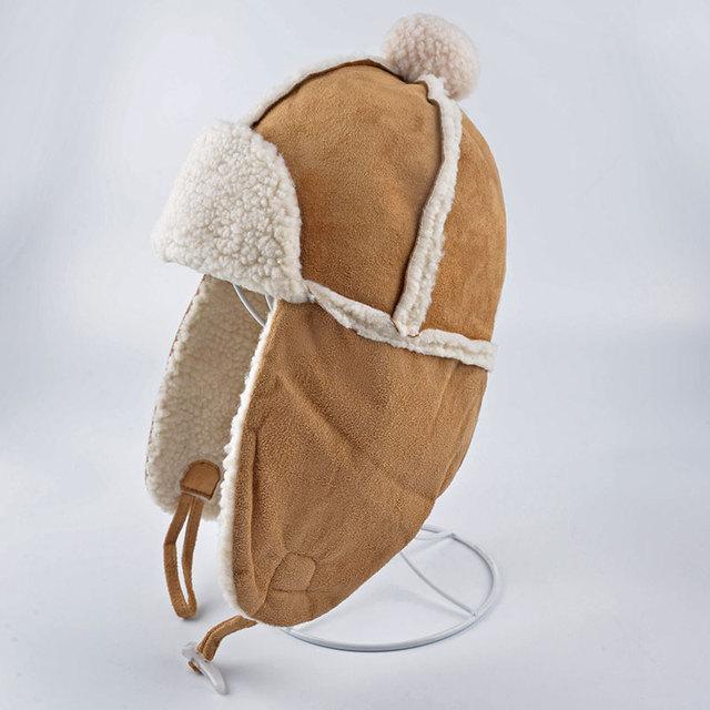 Las nuevas señoras para mujer imitación de piel de invierno de esquí cosaco estilo ruso Ushanka Trapper sombrero Tecnifibre gorros Cotton Cap gorros sombreros calientes precioso