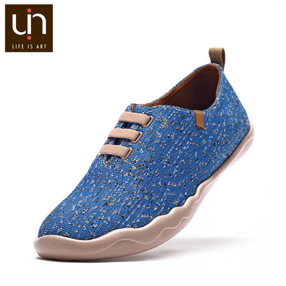 UIN Moguer/Повседневная парусиновая обувь для женщин; дышащие Лоферы без шнуровки; цвет розовый, синий; уличные кроссовки; модная обувь на плоской подошве