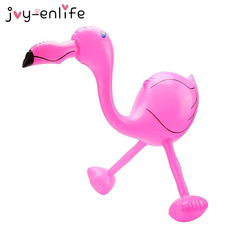 JOY-ENLIFE 1pcs PVC Inflation Flamingo Toy Summer Tropical Party Wedding Decoration Hawaii Beach Swimming Pool Decor Supplies