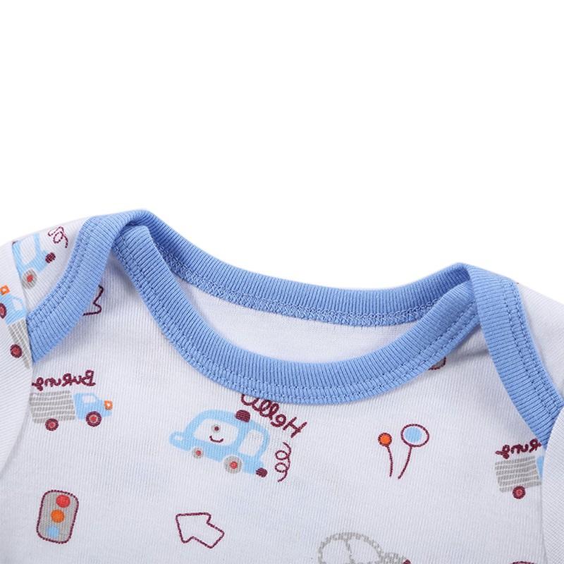 DH16106 Newborn Baby Clothes Animal Print Short Sleeve Cotton Baby Boy Romper Girl Ruffle Romper roupas de bebe infantil Costumes (9)