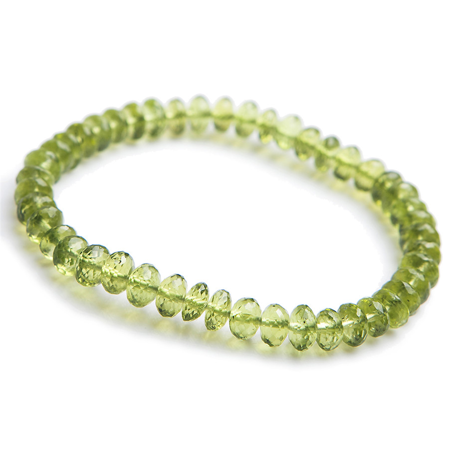 6mm Genuine Natural Olivine Peridot Bracelet Women Female Stretch Crystal Abacus Faced Bead Bracelet6mm Genuine Natural Olivine Peridot Bracelet Women Female Stretch Crystal Abacus Faced Bead Bracelet