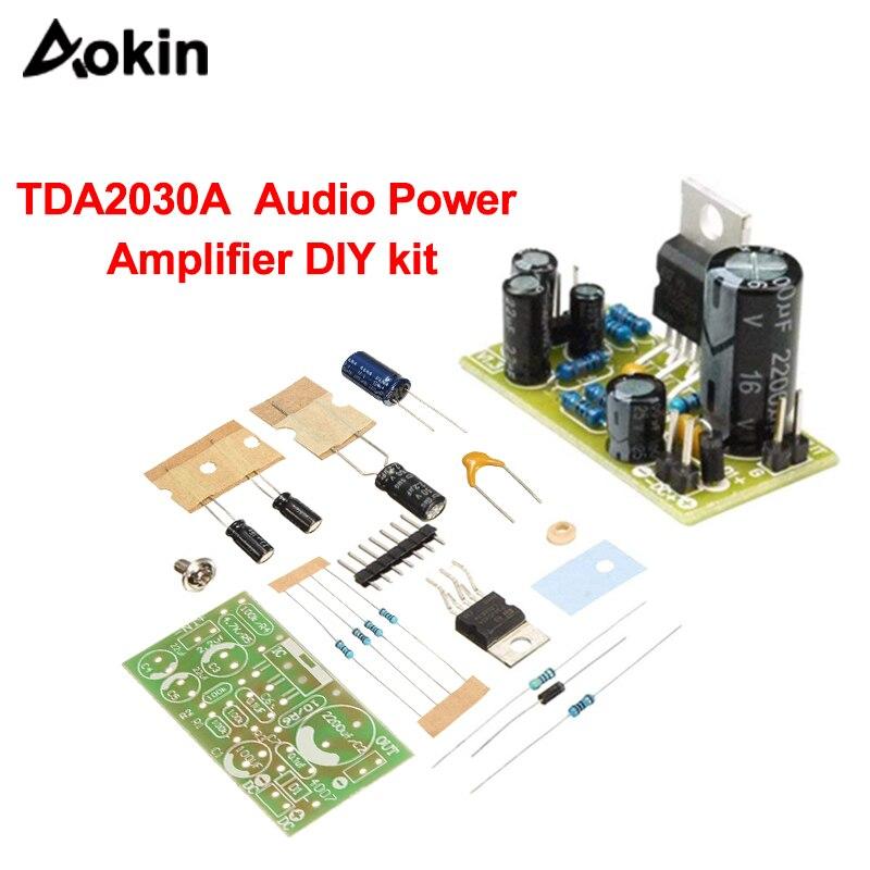 TDA2030A Electronic Audio Power Amplifier Kit With Subwoofer TDA2030A Audio Amplifier Kit 18W DC9-24V Amplifier Module Board