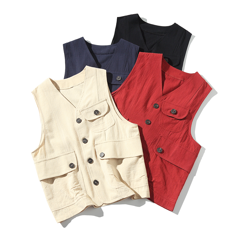 Men Multi-Pocket Classic  Male Summer Thin Multi Pocket Vest Photographer Outerwear Tool 4 Colors Sleeveless Jacket Waistcoat Fo