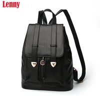 Women Backpack High Quality PU Leather Mochila Escolar School Bags For Teenagers Girls Top Handle Backpacks