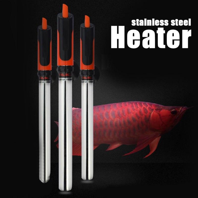 Controle de temperatura submersível ajustável 220-240 v do tanque de peixes da haste de aquecimento do aquário da temperatura do calefator do aquário de aço inoxidável