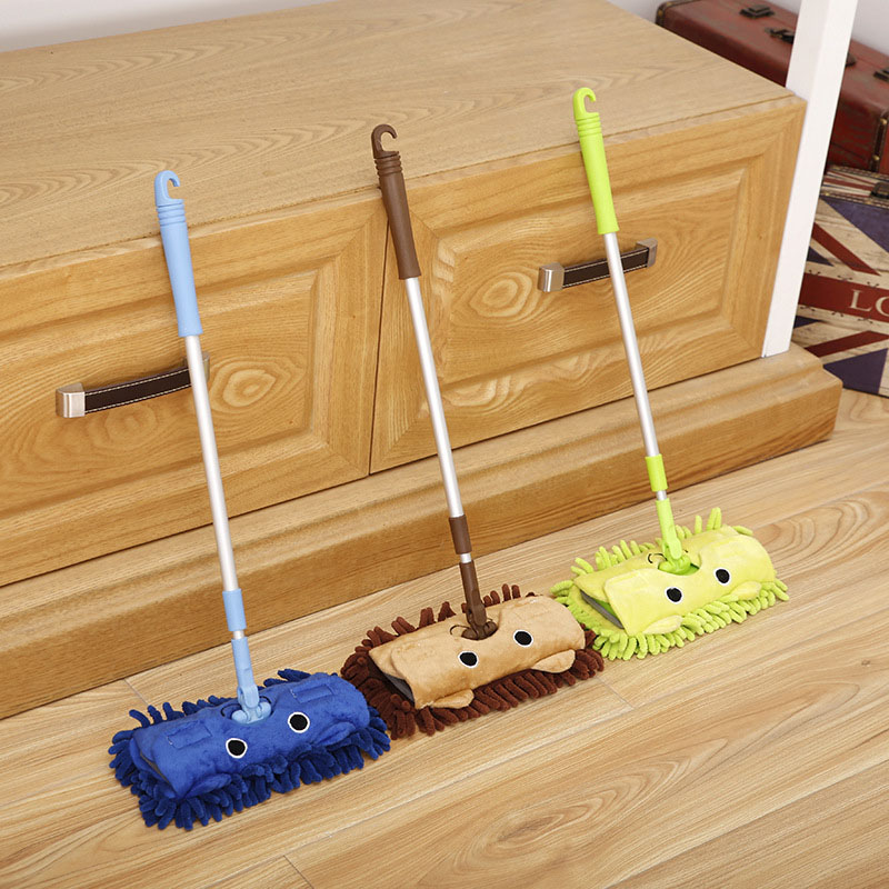Mother Little Helper Sweep Dustpan Mop Set 360 Can Rotated Mini Broom Corner Clean Home Sweeping Toys Combination Cleaning Tools