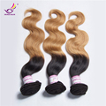 7A malaysian wavy hair subtle blonde ombre hair extension 27# 1B# mix color cheap real love hair products 4bundles body wave