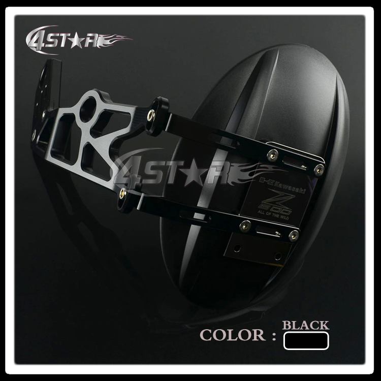 ФОТО Motorcycle Rear Splash Mud Dust Guard Mounting Bracket Fender Shield Carbon Wheel Cover For Z800 2014 2015 2016 Free Shipping