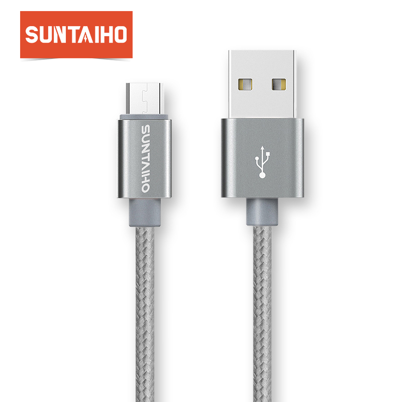 Suntaiho 1M/2M/3M Nylon Micro USB Cable Fast Charging 8pin USB Cord for iPhone 7 7plus 6 6s Plus 5s 5 iPad mini/Samsung/Xiaomi