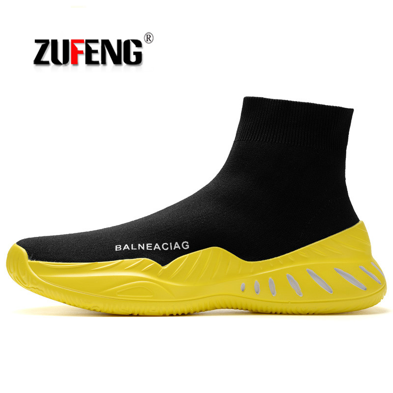 Hight Top Socks shoes Breathable Running Shoes for Men Wear-resisting Slip-on Sports Shoes Sneakers Outdoor Comfortable WalkingHight Top Socks shoes Breathable Running Shoes for Men Wear-resisting Slip-on Sports Shoes Sneakers Outdoor Comfortable Walking