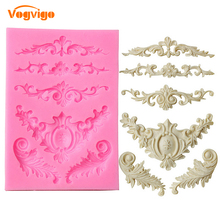 VOGVIGO European Style Relief Lace Silicona Molde Kitchen Gadgets Home Fondant Molds Tool Dessert Cake Stand