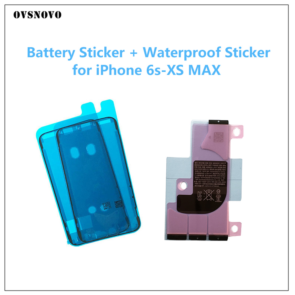 Battery Sticker Adhesive Strips + LCD Display Waterproof Seal Adhesive Sticker For IPhone X 6S 7 8 Plus Screen Frame Replacement