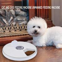 Automatic Pet Feeder Timing Feeder 6 Meals 6 Grids Cat Dog Electric Dry Food Dispenser Dish Feed 24 Hours Timer Pet Supplies New