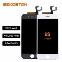 Orijinal SZKOSTON LCD Ekran için iPhone 6 s 6 artı 6 5 5 s LCD Ekran Dokunmatik ekran Digitizer Ekran bağlayıcı Meclisi