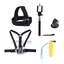 GoPro Accessories Floating Bobber Grip Monopod Selfie Stick Adapter Chesty Strap Head Belt Sj4000 Sj5000 Sjcam Action Camera Kit