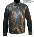 New MJ Professional Cosplay Michael Jackson Billie Jean 25th Motown Sequin Shirt Jacket Free shipping