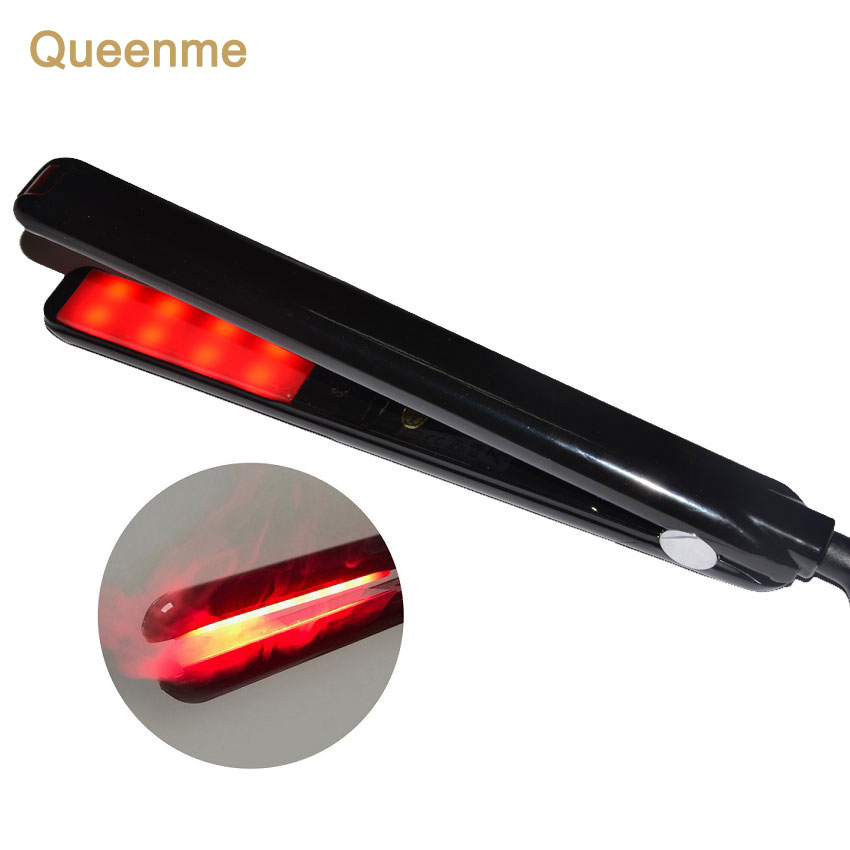 QUEENME LCD Display Ultrasonic Infrared Hair Care Clip With Cold Therapeutics Repair The Damaged Hair Cold Iron Hair Treatment
