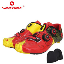 Sidebike Road Bike Shoes men Professional Carbon Fiber Sole Bicycle Shoes Cycling Self Lock Shoes zapatillas ciclismo bicicleta