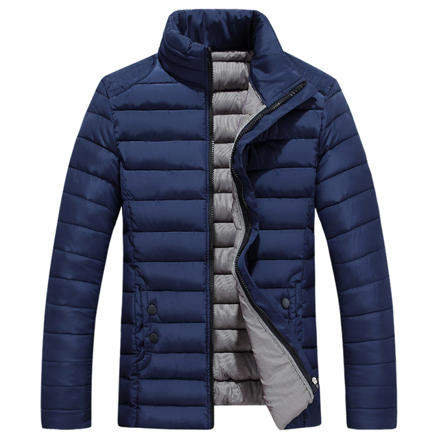 T Cheap wholesale 2016 autumn winter new Male stand collar thickening casual cotton-padded jacket slim short design plus size