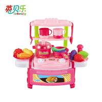 Pink Mini Girls Pretend Play Toys Household Appliances For Kitchen Cooking Utensils Fruit Toys Girl Education Gift AG281B