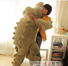 huge lovely plush green crocodile toy stuffed cartoon Chinese alligator pillow birthday gift about 200cm
