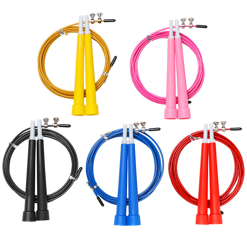 New Steel Wire Skipping Skip Adjustable Jump Rope Crossfit Fitness Equipment Exercise Workout 3 Meters Speed Training Home Fit