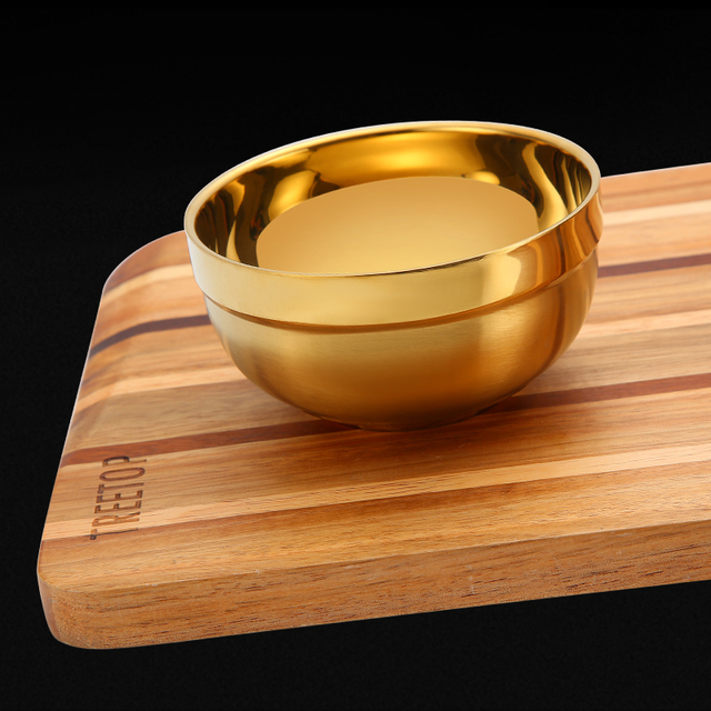 Golden Bowl Double stainless stainless steel bowl Children's Special Bowl Big Soup Stainless Steel Bowl