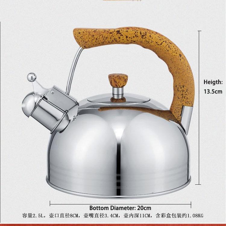 Houmaid Hoge kwaliteit rvs klinkt luid fluitketel compound zool door gasfornuis of elektromagnetische oven - 6
