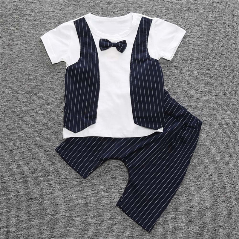 Children Clothes Set 1Set Kids Toddler Boys Handsome T-shirt Tops+Trousers Pants 2Pcs Clothes Outfits Set Dropshipping, Xm30