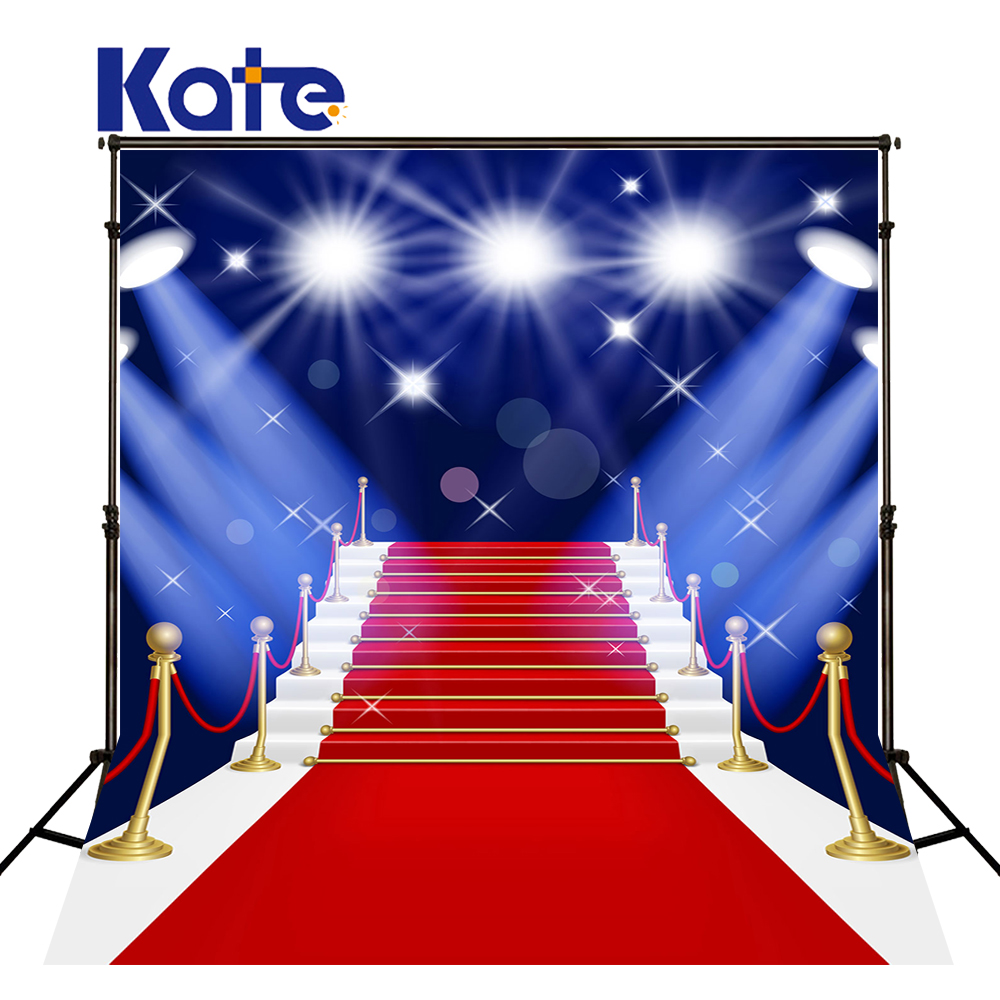 Kate Photo Studio Backdrop Red Carpet Ladder Stage Lighting Kate Background Wedding kate photo background scenery