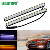 LEADTOPS Car Universal Turn Signal Indicator Lamp Source 42 SMD A Pair LED DRL White Turn
