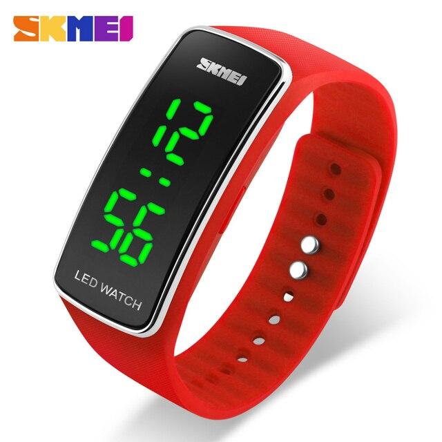Skmei спортивные часы женские модные повседневные светодиодный цифровой наручные часы силиконовый ремень полный календарь Relogio feminino 1119