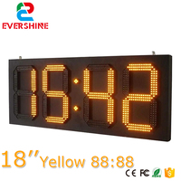 time and temperature signs 88.88 led sign 18 inch from Evershine LED good price