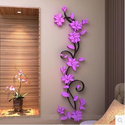 Great 152*45cm Single Piece Package 3D Exquisite Flowers Wall Sticker Waterproof  For Home Marriage Room And Wall Decor Free Shipping In Wall Stickers From  Home ...