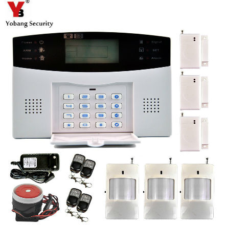 YobangSecurity Home Security Wireless GSM Security Alarm System Manual Spanish Russian French Italian Voice PIR Motion