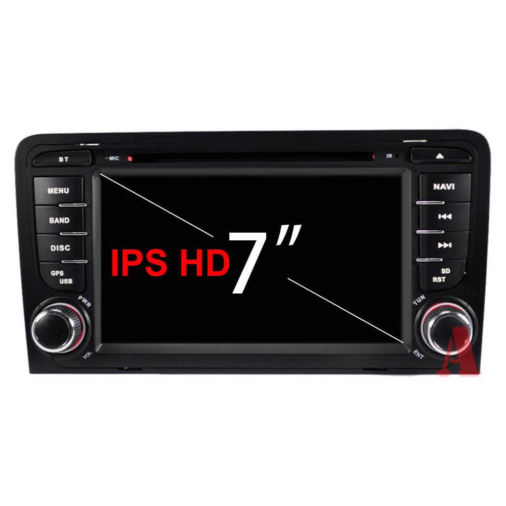 8 コア 4 グラム 64 グラム 2 ディンアンドロイド 9 車の dvd マルチメディアプレーヤーオーディオアウディ/A3 /S3 2002 から 2013 ステアリングホイール obd2 DSP DVR